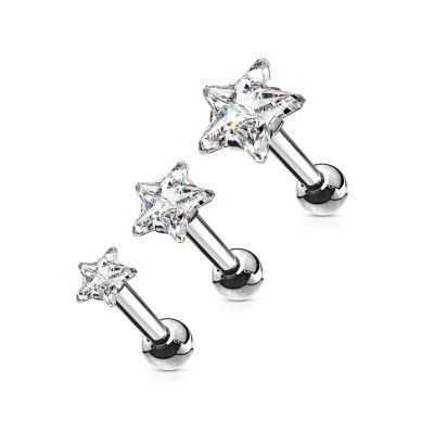 Zestaw kolczyków do uszu z gwiazdkami z kryształków